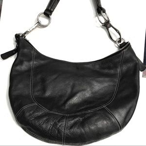 Ralph Lauren Bag  leather Black large hobo bag